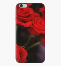 Analog photo of bunch bouquet of red roses iPhone Case