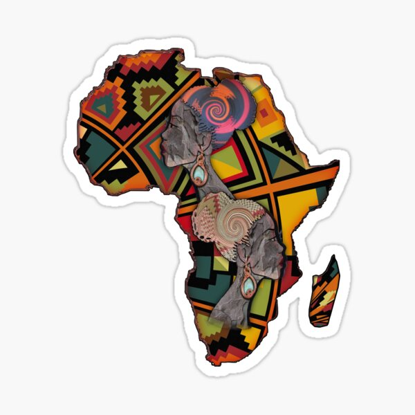 African Traditional Fabric Design Sticker