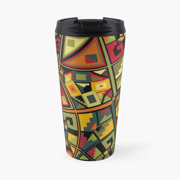 African Traditional Fabric Design Travel Mug