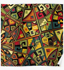 African Traditional Fabric Design Poster