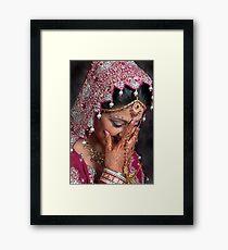 THE BLUSHING BRIDE Framed Print