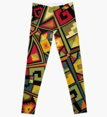 African Traditional Fabric Design Leggings