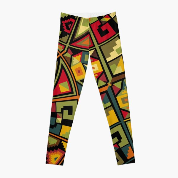 African Traditional Fabric Design Leggings