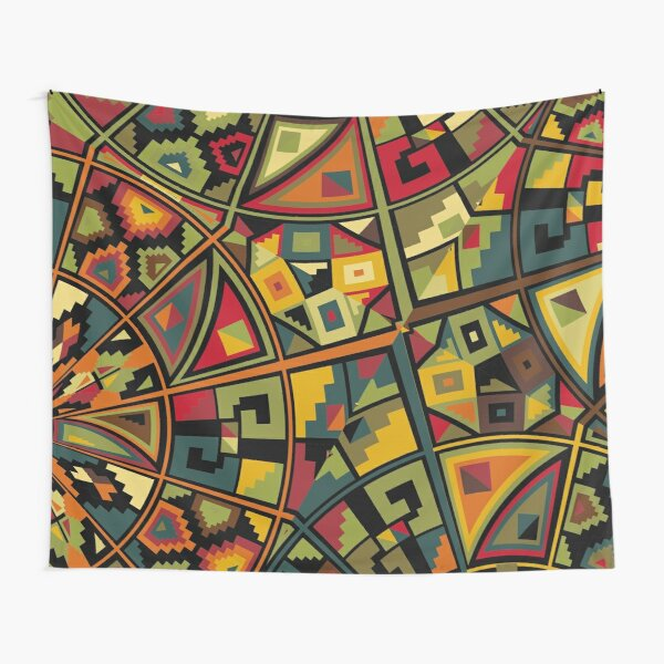 African Traditional Fabric Design Tapestry