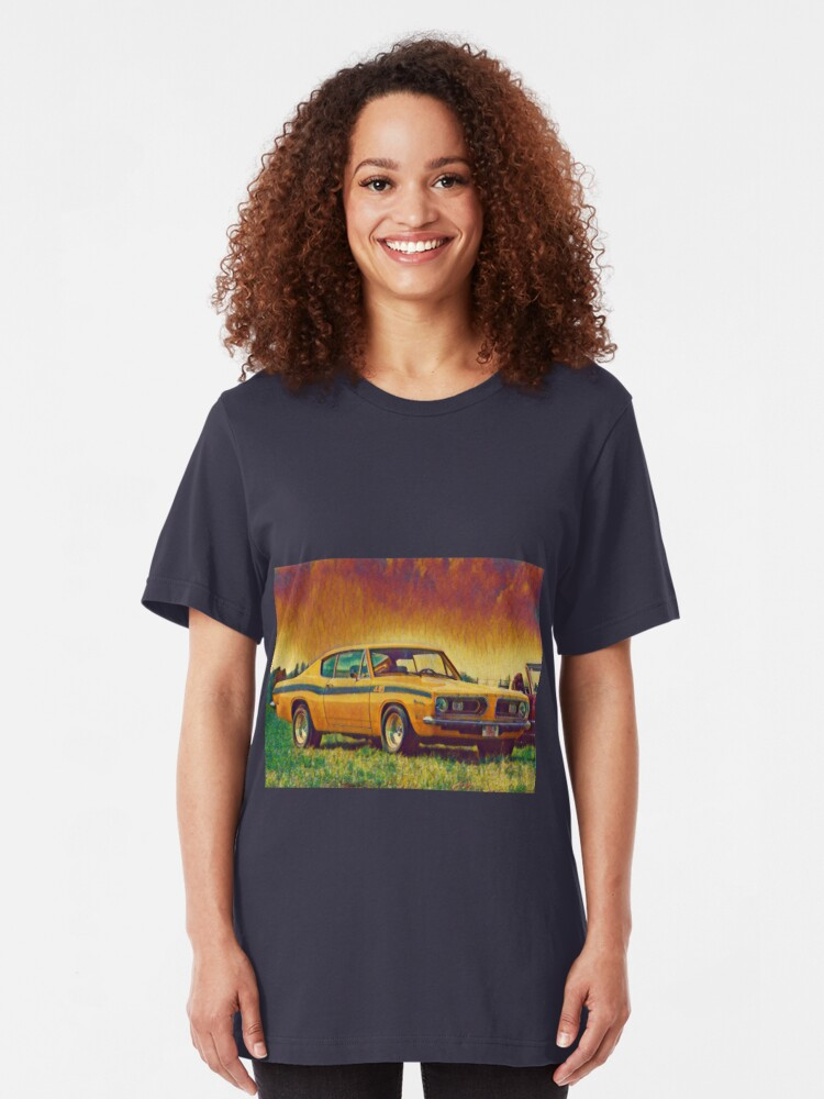 Alternate view of 1969 Plymouth Barracuda 440 Slim Fit T-Shirt