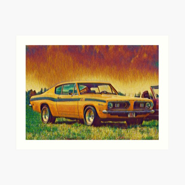 1969 Plymouth Barracuda 440 Art Print