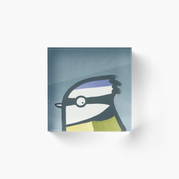 Bluetit Acrylic Block