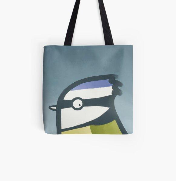 Bluetit All Over Print Tote Bag