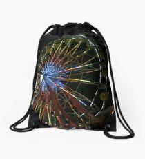 nighttime ferris wheel Drawstring Bag