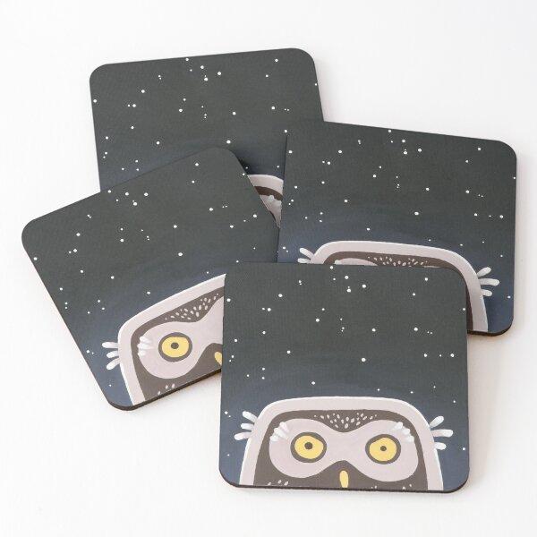 Little Owl Coasters (Set of 4)