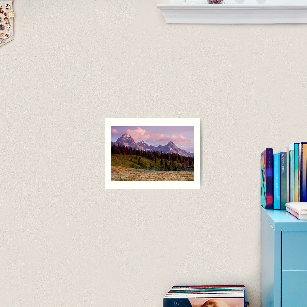 The Grand, Teewinot, and Mt. Owen... the Tetons Art Print