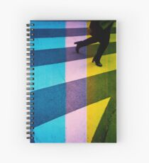 35mm analog film darkroom photo woman crossing street Spiral Notebook