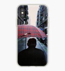 35mm c41 analog film darkroom photo old man in street iPhone Case
