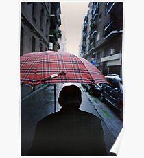 35mm c41 analog film darkroom photo old man in street Poster
