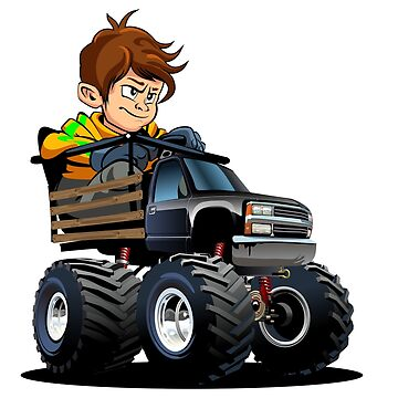 Cartoon Monster Truck with driver by Mechanick