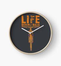 Life Behind Bars Biking Collection  Clock