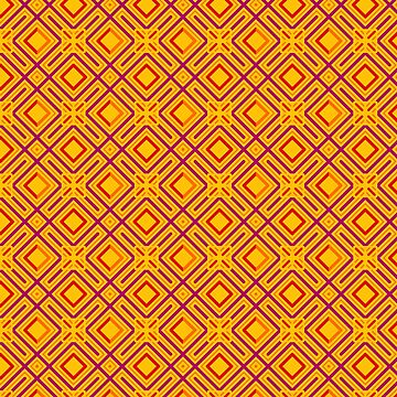 Bold Bright Colours Geometric Diamond Pattern by broadmeadow