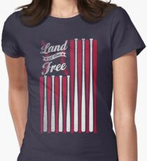 Land of the Free Womens Fitted T-Shirt