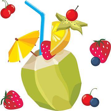 Fruchtiger tropischer Cocktail von Niloufer