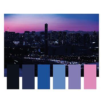 Vaporwave Tokyo Sunset Neon Color Palette by gregGgggg