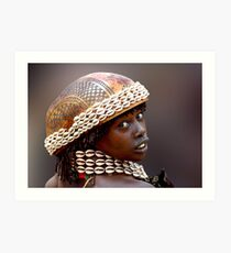 HAMAR GIRL - ETHIOPIA Art Print
