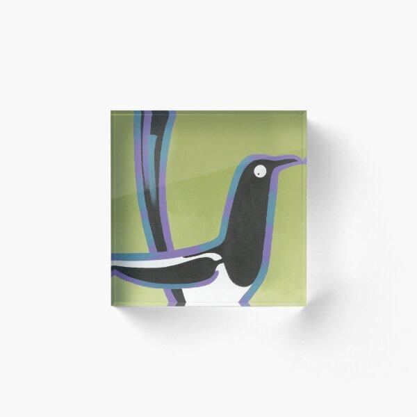 Magpie Acrylic Block