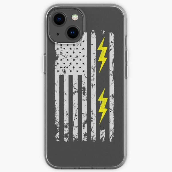 Patriotic Electrician USA American Flag Shirt - Electrician Shirts iPhone Soft Case