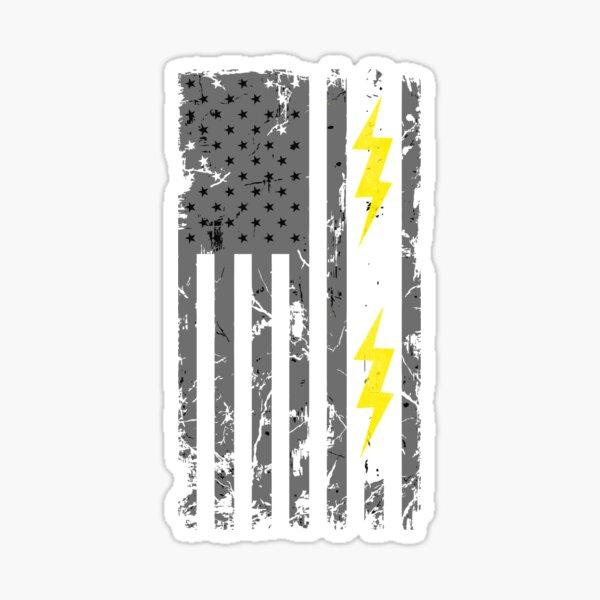 Patriotic Electrician USA American Flag Shirt - Electrician Shirts Sticker