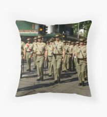 The Welcome Home Parade Throw Pillow