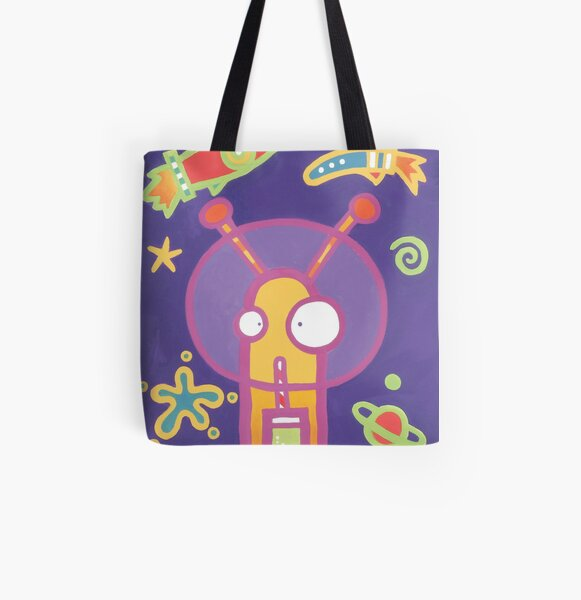 Space Alien Worm Juice All Over Print Tote Bag
