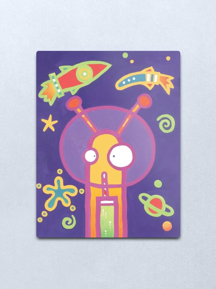 Alternate view of Space Alien Worm Juice Metal Print
