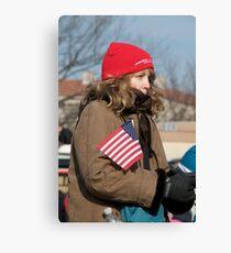 Cold Patriot Canvas Print