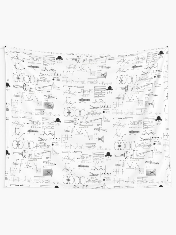 Alternate view of General Physics 2, #GeneralPhysics, #General, #Physics, #Electromagnetism, Thermodynamics, AtomicPhysics, NuclearPhysics Tapestry