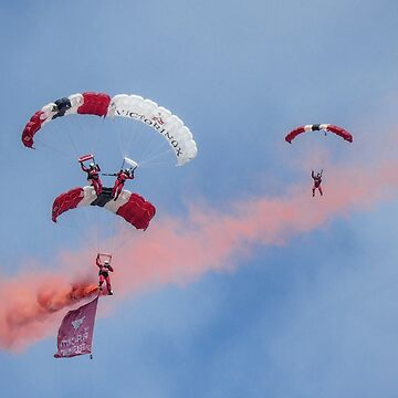 Royal Airforce Red Devils Sky Divers....... by lynn45