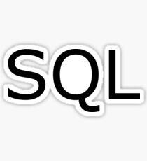 SQL- Computing Programming Programmer Design Sticker