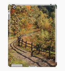 Broken Fence Rail on Quabbin Trail iPad Case/Skin
