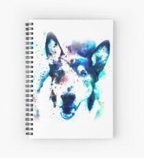 White Galaxy Spiral Notebook