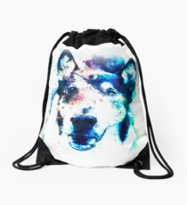 White Galaxy Drawstring Bag
