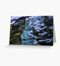 Maligne Canyon Greeting Card