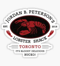 Jordan B. Peterson's Lobster Shack - It's Delicious, Bucko! Sticker