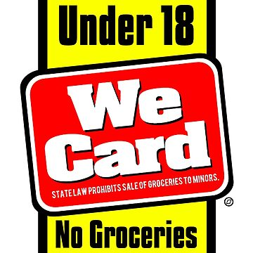 Under 18 No Groceries - tRump Grocery Store Sticker by Thelittlelord