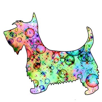 Colorful Dog Lovers Design - Scottie Dog by DeepDenn
