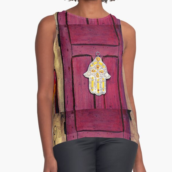 HAMSA, Hand of Fatima,  Sleeveless Top