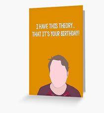theory (birthday). Greeting Card