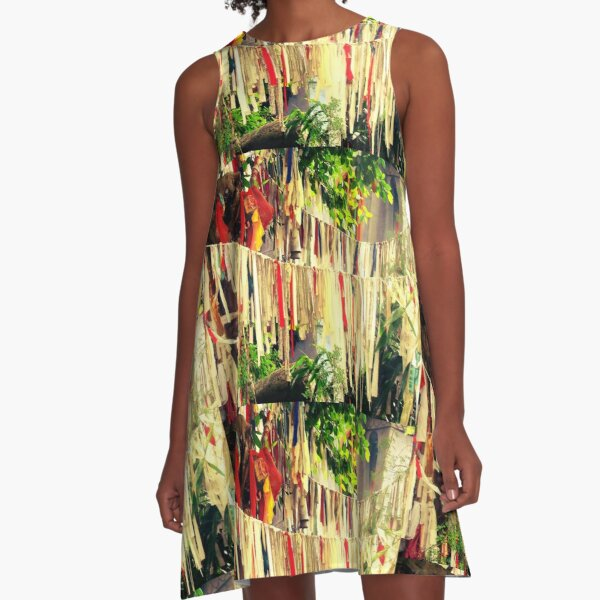 Colours of the rainbow  A-Line Dress
