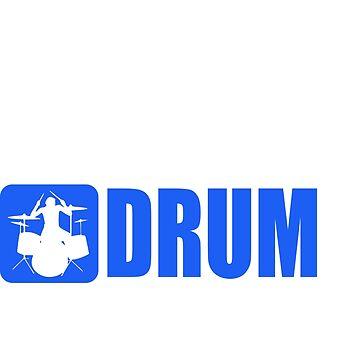 Eat Sleep Drum Repeat by SpaceAlienTees