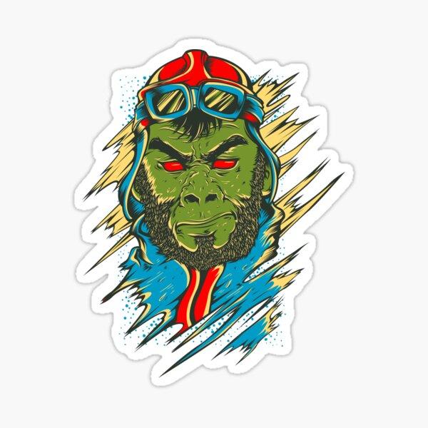 pilot ape Sticker