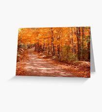 Orange Country Road Greeting Card