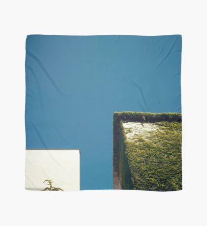 Weißes Quadrat, grünes Quadrat, blauer Himmel Tuch
