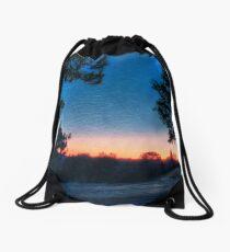 Orange Glow Drawstring Bag